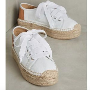Anthropologie Leather Espadrille Sneakers 8/8.5